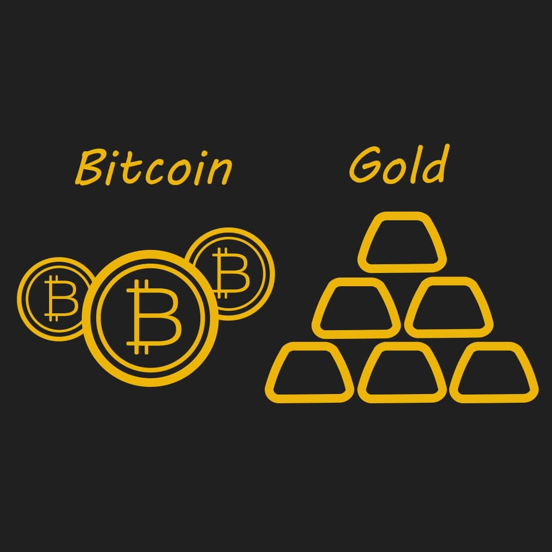 با ورود سرمایه به بازار بیت کوین، طلا نزولی خواهد شد!!